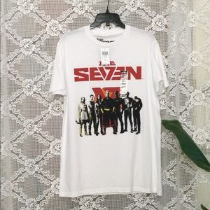 """The Boys """" The Seven"""" White Shirt Size M"""